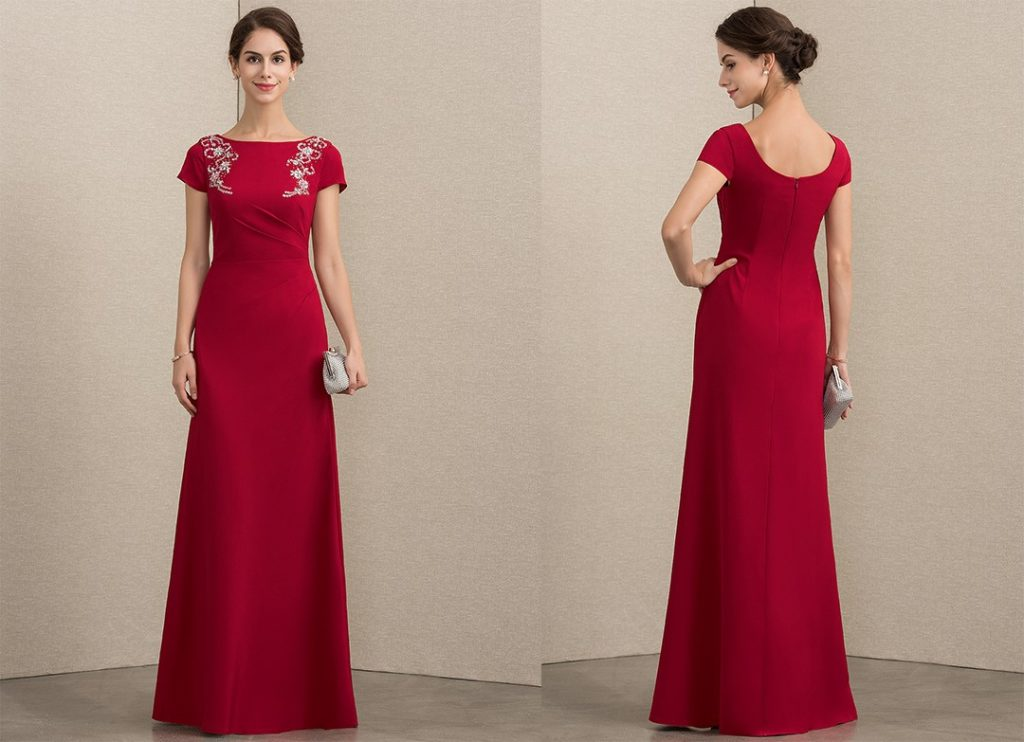 Red Mother of the Bride Dress for the Winter Wedding