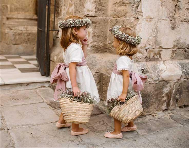 Two little flower girls