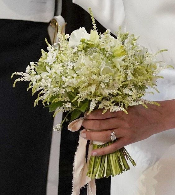 Bespoke Wedding Bouquet Made from Fresh Flowers Handpicked by Prince Harry
