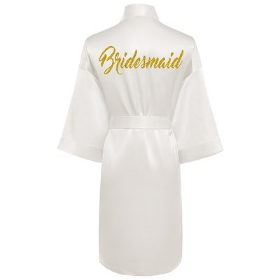 Bridesmaids robe with engraved back