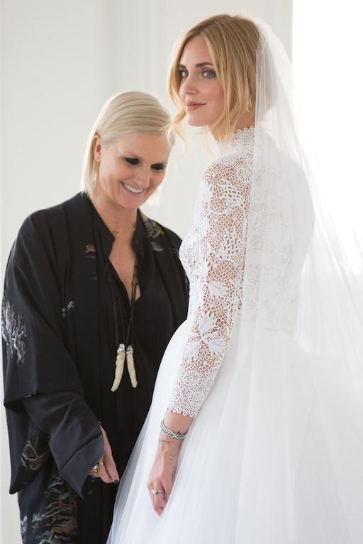 Chiara Ferragni's Bridal Fitting with Dior Designer Maria Grazia Chiuri
