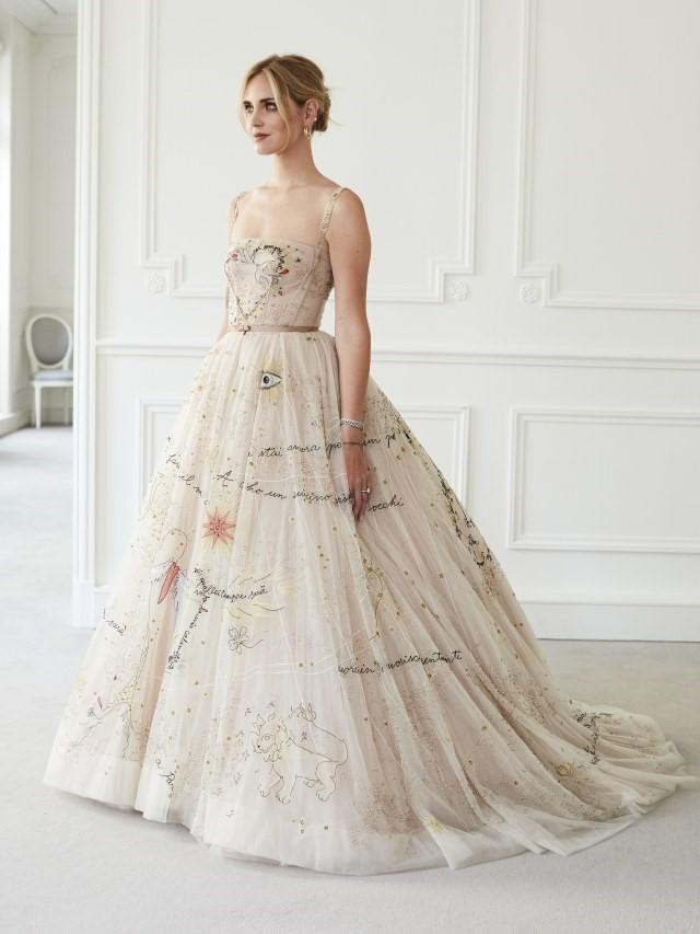 Chiara Ferragni's Personalized Wedding Dress for the Reception