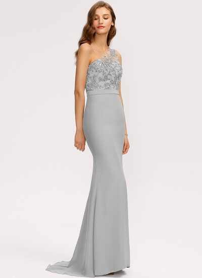 Grey evening dress for prom