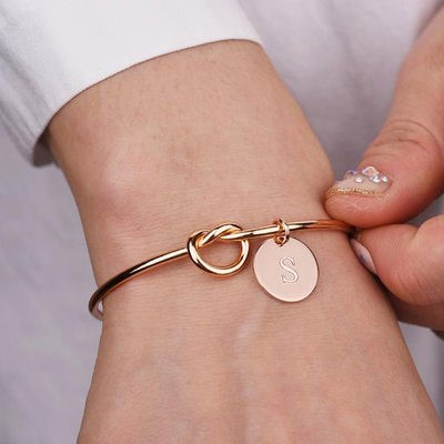 Personalized bracelet for bridesmaid