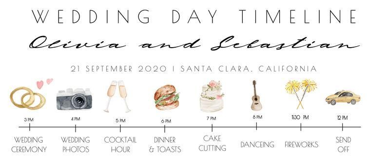 Wedding timeline example