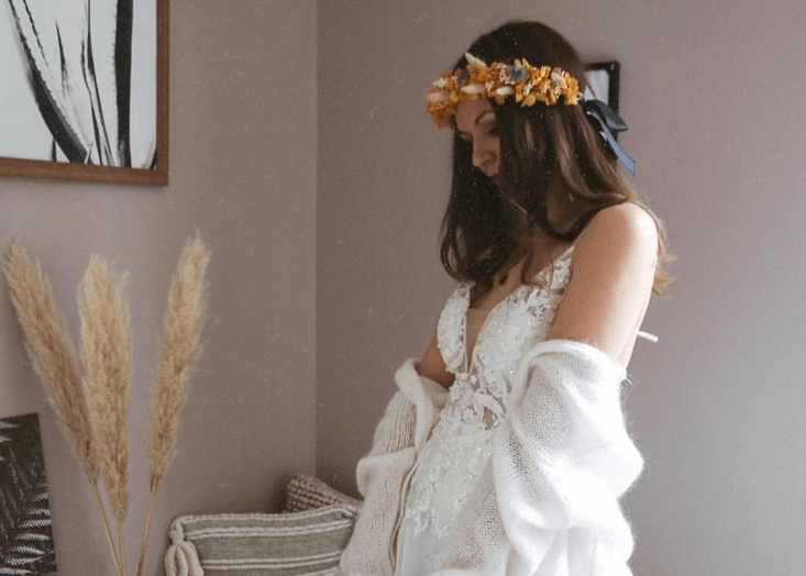 Boho Sexy Wedding Dresses with Soft Shawl