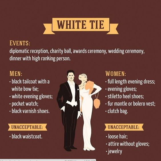 White-tie dress code explained