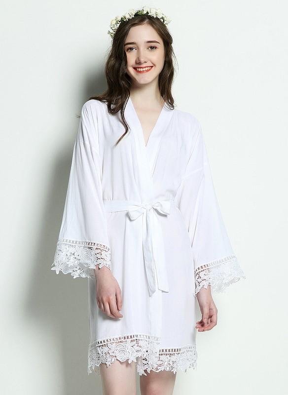 Bridesmaid robe made of cotton