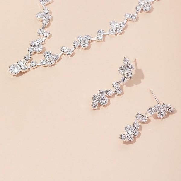 Elegant Alloy/Copper With Rhinestone Ladies' Jewelry Sets
