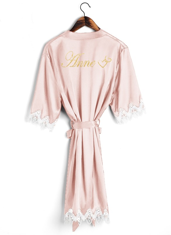 Lace bridesmaid robe