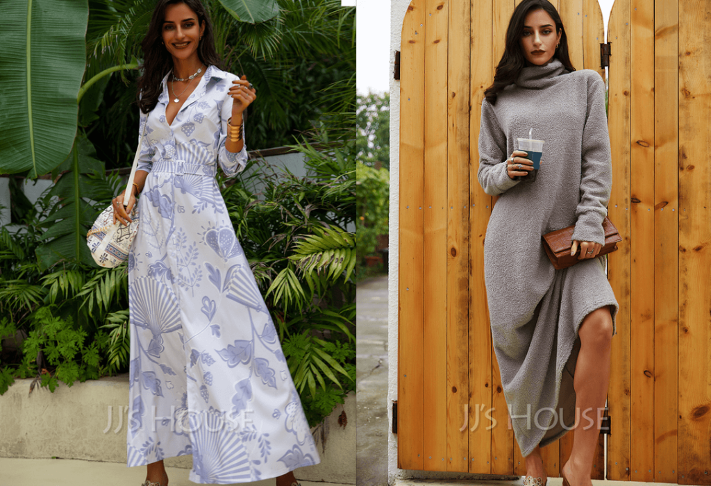 Maxi dresses for autumn and winter