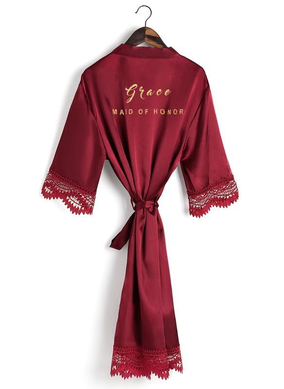 Personalized bridesmaid robe