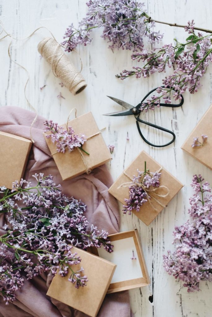 Packing gifts for bridesmaids